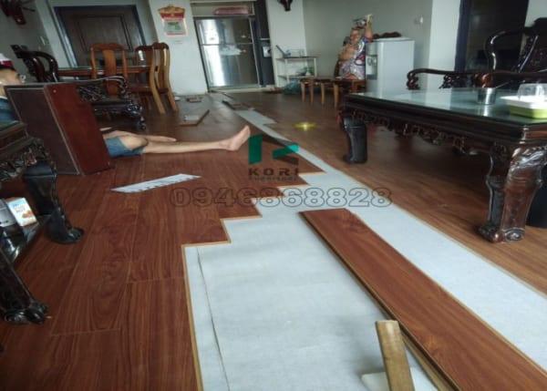 Thi công sàn gỗ công nghiệp Nghệ An