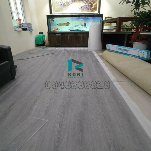 Thi công sàn nhựa giả gỗ tại Lạng Sơn