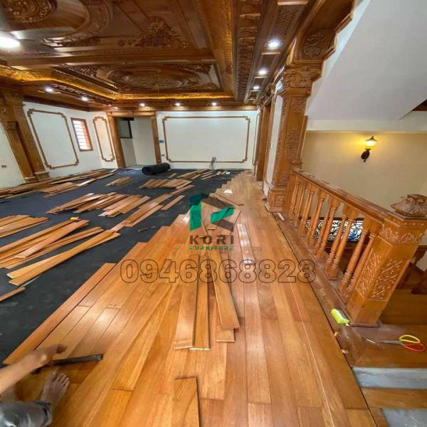 Thi công sàn gỗ công nghiệp tại Đồng Hới