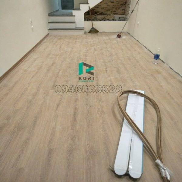 Hoàn thiện sàn nhựa giả gỗ tại Ninh Bình