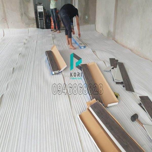 Thi công sàn nhựa giả gỗ Đắk Lắk