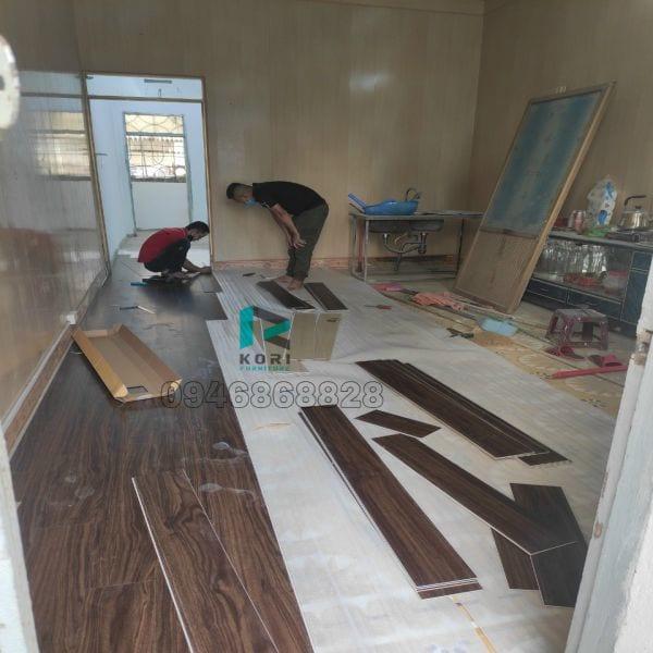 Thi công sàn nhựa giả gỗ tại Hải Phòng