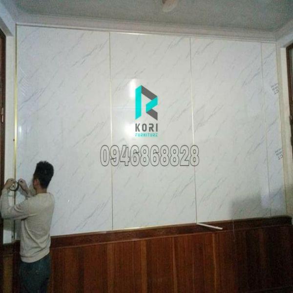 Ốp tường nhựa giả đá PVC